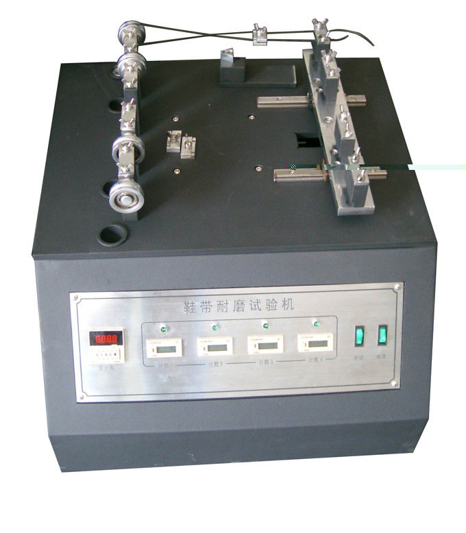 Vertical Type Footwear Testing Equipment , Shoelace And Eyelet Abrasion Tester